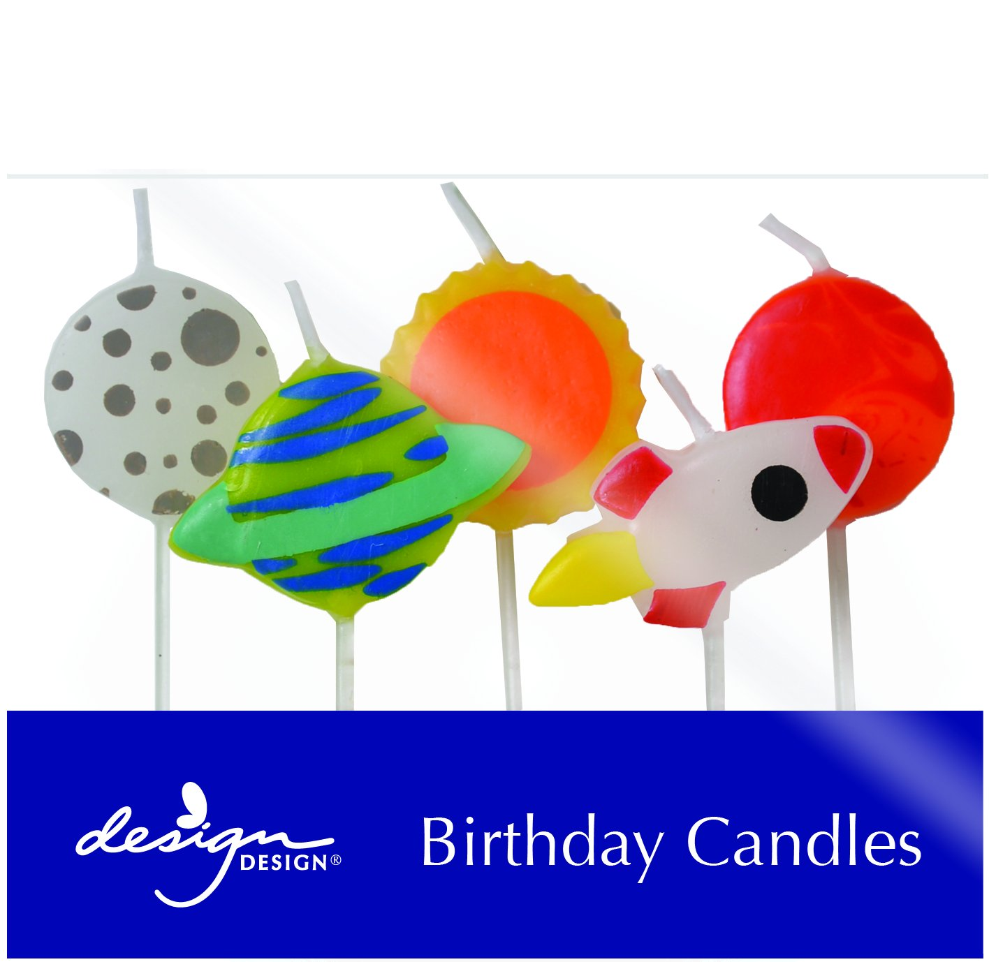 Design Design Outer Space Birthday Candles, Multicolor
