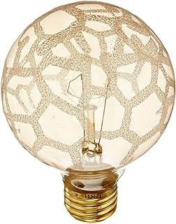 bulbrite 40g25mar crystal collection g25 globe light with marble finish and medium base - Decorative Light Bulbs