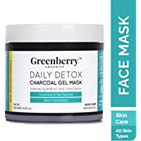 Greenberry Organics Daily Detox Charcoal Gel Mask With Tea Tree And Green Tea Extracts, 100g
