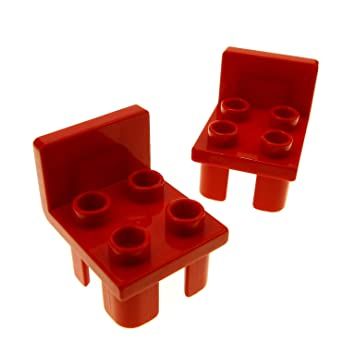 Elegant 2 X Lego Duplo Stuhl Rot 4 Noppe Sitz Stühle Küche Wohnzimmer . Nice Look