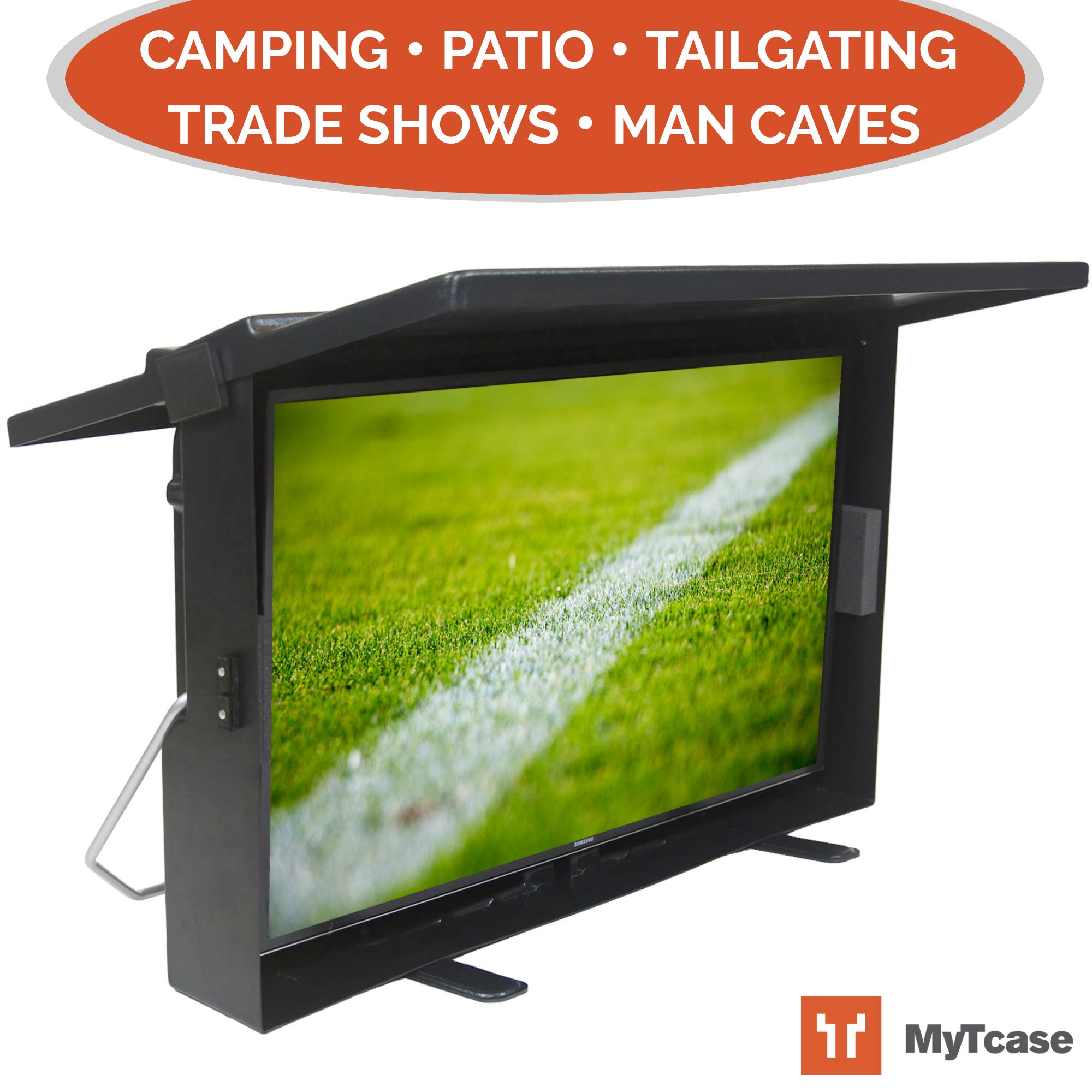 MYTCASE: Protective TV Carrying Case for Tailgating, Camping, Backyard BBQ, and Travel - Transport + Secure + Display Your LED TV, Black by MYTCASE