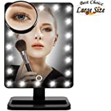 Lighted Makeup Mirror 20 LED, Lmeison Vanity Mirror with Touch Screen, Detachable 10X Magnification Mirrors,180° Free Rotation Movable Cosmetic Mirror