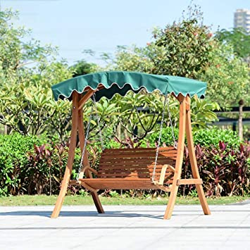 ZDYLM-Y Columpio Balancín Jardín 2 plazas de Madera de Madera Columpio al Aire Libre de los Asientos, de terraza al Aire Libre (Verde): Amazon.es: Deportes y aire libre