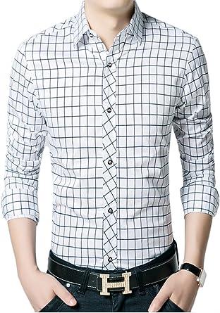 Icegrey - Camisa de Vestir - Button Down - Manga Larga - para ...