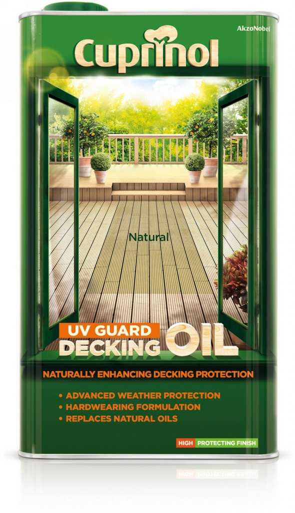 Cuprinol 2.5L Decking Oil and Protector - Natural Pine Toolbank