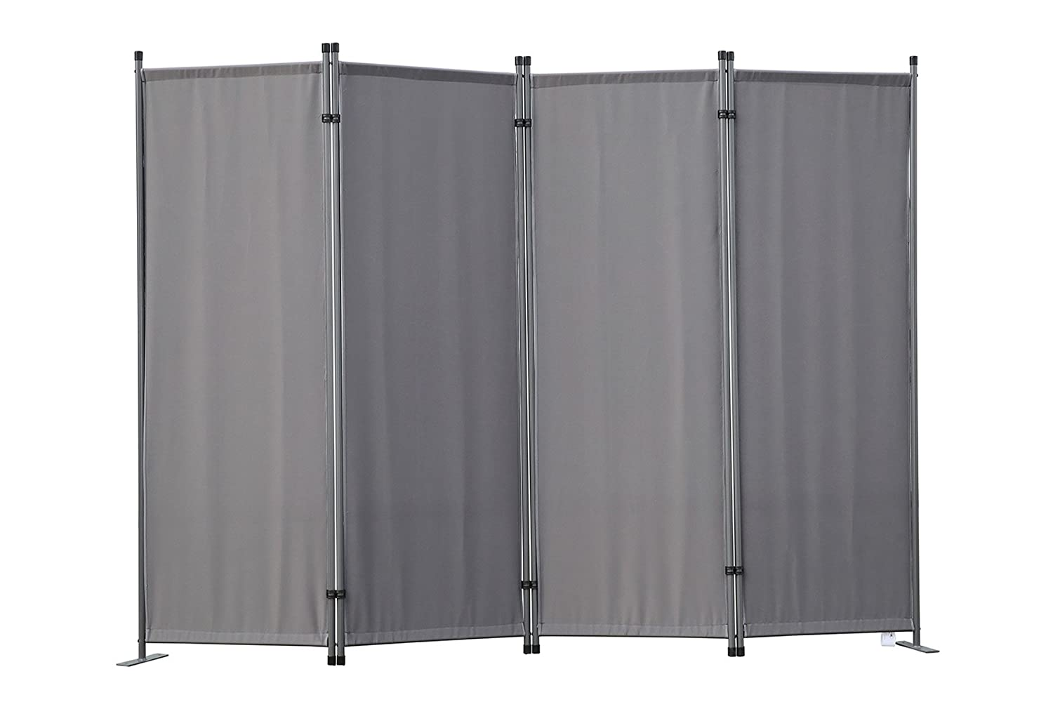 Angel Living Protective Screens Room Divider Screen Panel Folding Room Partition Wall Furniture Outdoor Screens for Patio Privacy (3-piece 169x165cm, Beige)