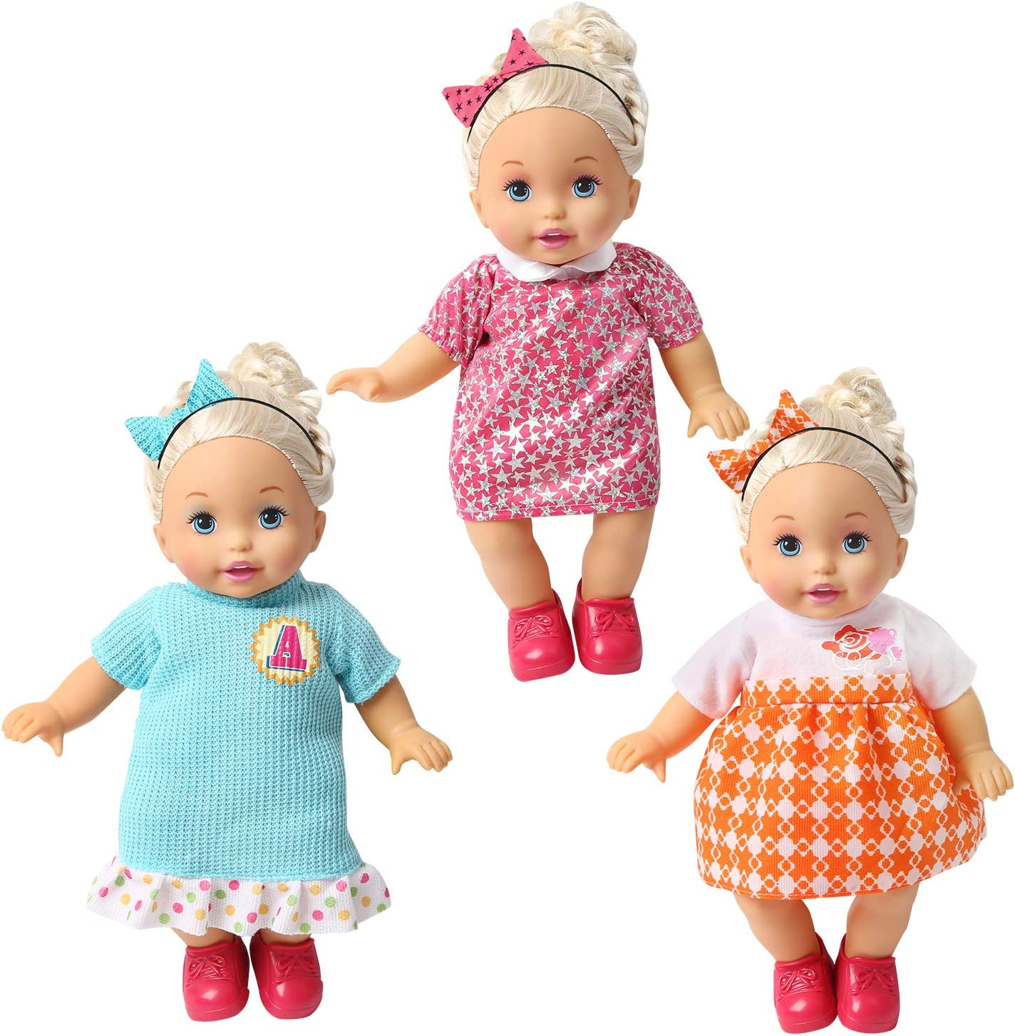 Amazon.com: BOBO Clothes Set of 12 for 12-14-16 Inch Alive Lovely Baby Doll  Clothes Dress Outfits Costumes Dolly Pretty Doll Cloth Handmade Girl  Christmas Birthday Gift: Toys & Games