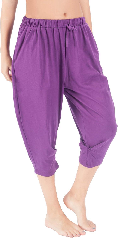 Wewink Cukoo - Pantalones capri con bolsillos para mujer, cintura ...