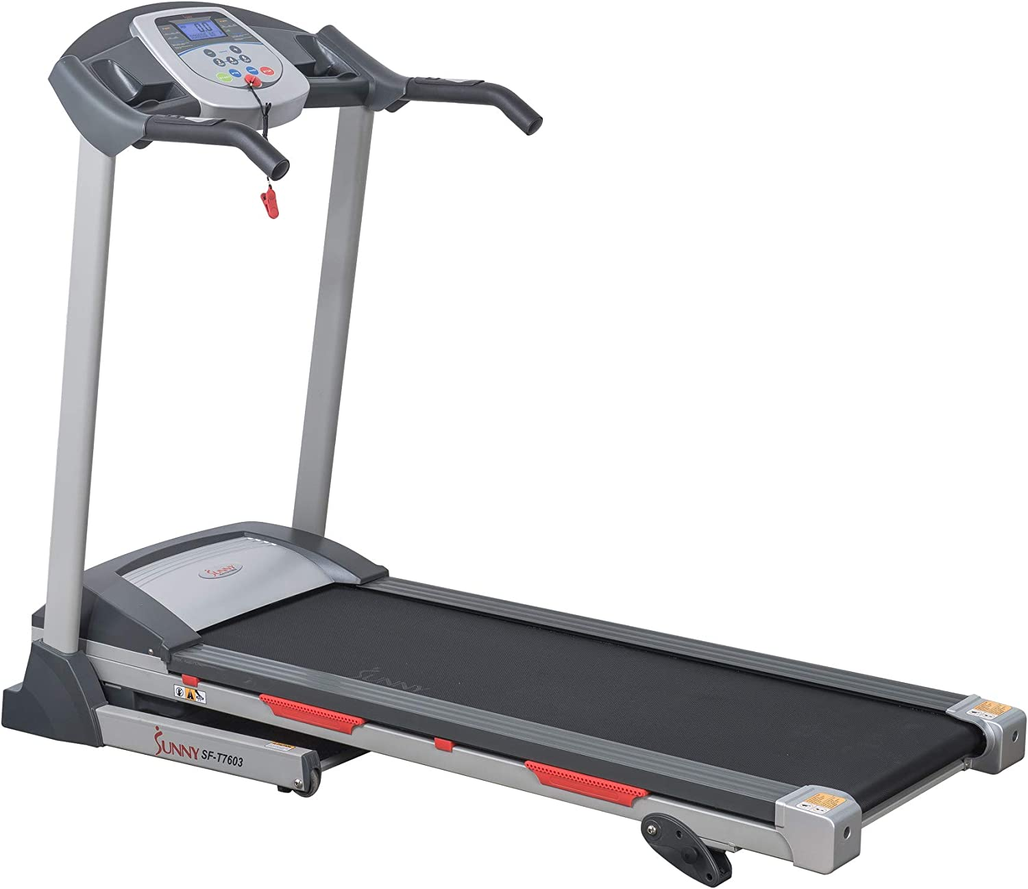 Sunny Health Fitness Exercise Treadmills, Motorized Running Machine for Home with Folding, Easy Assembly, Sturdy, Portable and Space Saving – SF-T7603