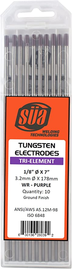 """Red Tip 1//8/"""" x 7/"""" 10 PACK SÜA 2/% Thoriated Tungsten Electrode TIG Welding"""