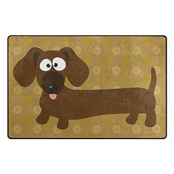Benni giry perro salchicha Hot Dog Rango Alfombra antideslizante Diario de DF920 felpudos para salón dormitorio