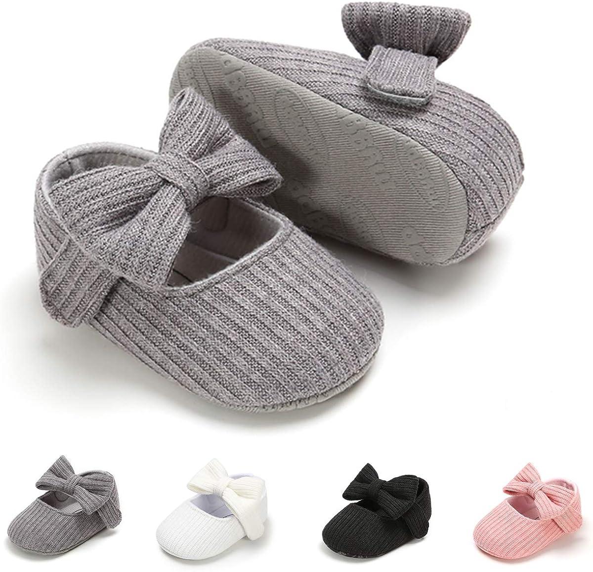   Ohwawadi Infant Baby Boys Girls Slippers Cozy Fleece Booties Soft Bottom Warm Cartoon Socks Newborn Crib Shoes   Mary Jane