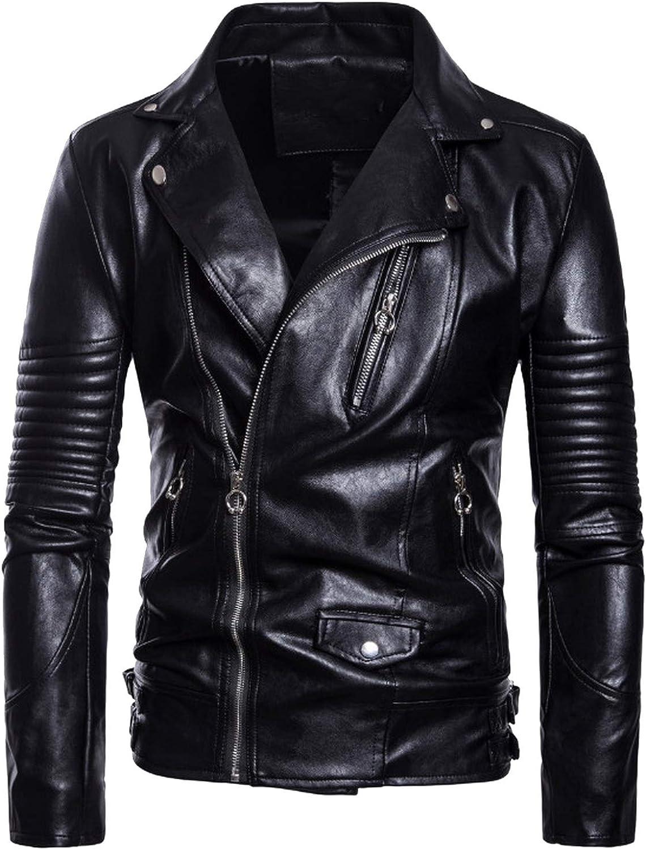 Chaqueta Punk de piel para hombre, diseño de calavera