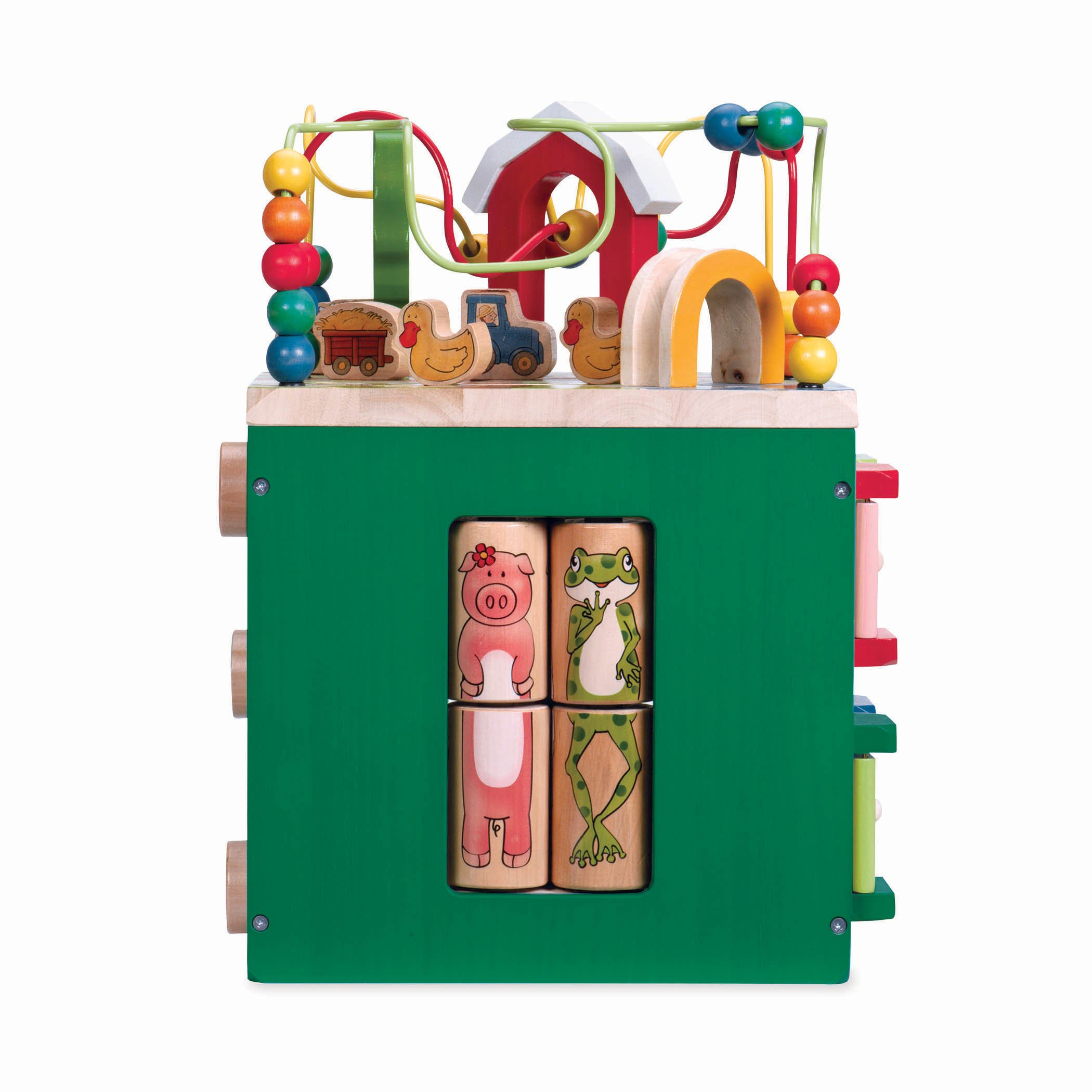 Battat - Wooden Activity Cube - Discover Farm Animals Activity Center for Kids 1 year + by Battat (Image #3)
