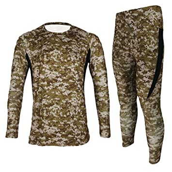 Jagger Men s Fleece Camouflage Running Cycling Jersey T-Shirt Pants Sets  XXL Brown 274718a32