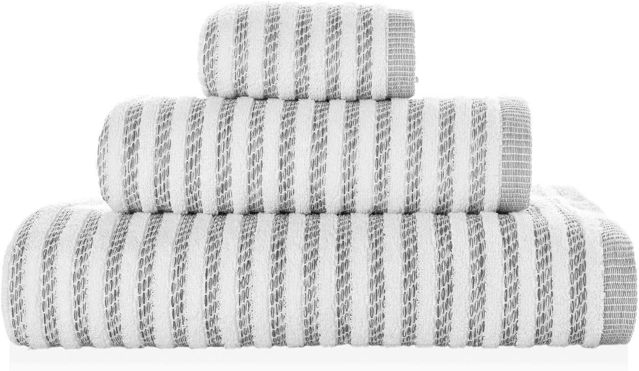 Toalla Chevron Color Blanco 30 x 50 cm
