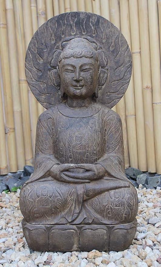 Asia Lifestyle - Estatua de Buda para jardín, 76 cm, Piedra Natural: Amazon.es: Jardín