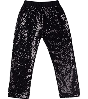 9196b4392c3873 Sequin Leggings for Girls Boys Baby Kids Toddler Sequin Pants Gold Sparkle  Tights Cotton Birthday Sparkle