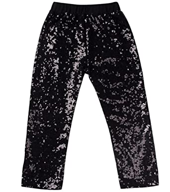 dad8c47879fee Messy Code Girls Leggings Baby Sequin Pants Toddler Trousers Boutique  Tights Black 1-2 T