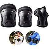 Windwalker Sports Protective Gear Safety Skateboard Knee and Elbow Pads with Wrist Guard for Adults/Children Roller Bicycle Scooter