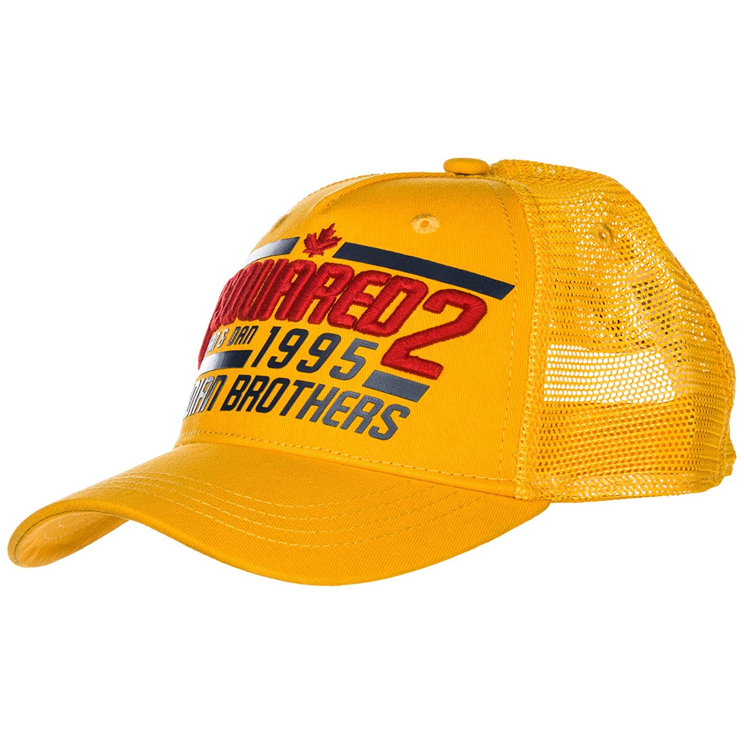 885edef9a Amazon.com: DSQUARED2 Men Canadian Brothers Baseball Cap Giallo ...