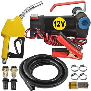 Diesel-Filter Automatik-Zapfpistole Dieselpumpe /Ölpumpe Heiz/ölpumpe Biodiesel Selbstansaugend Diesel Star 160-1-4-12V Dieselpumpe mit Anschliss 12V Kompletes Set mit 6m Gummi-Schlauch