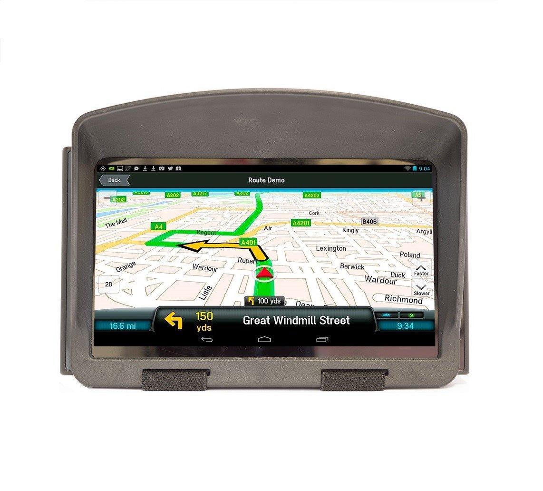 6-7/'/' GPS Navigator Anti Glare Reflection Sun Shade Visor Screen Clip Windshield