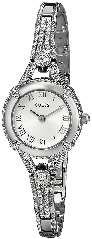 GUESS Women's U0135L1 Petite Crystal-Accented Silver-Tone ...
