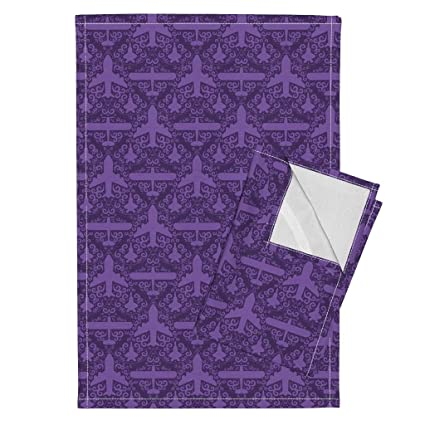 amazon com aircraft airplane nerd geek damask pretty tea towels