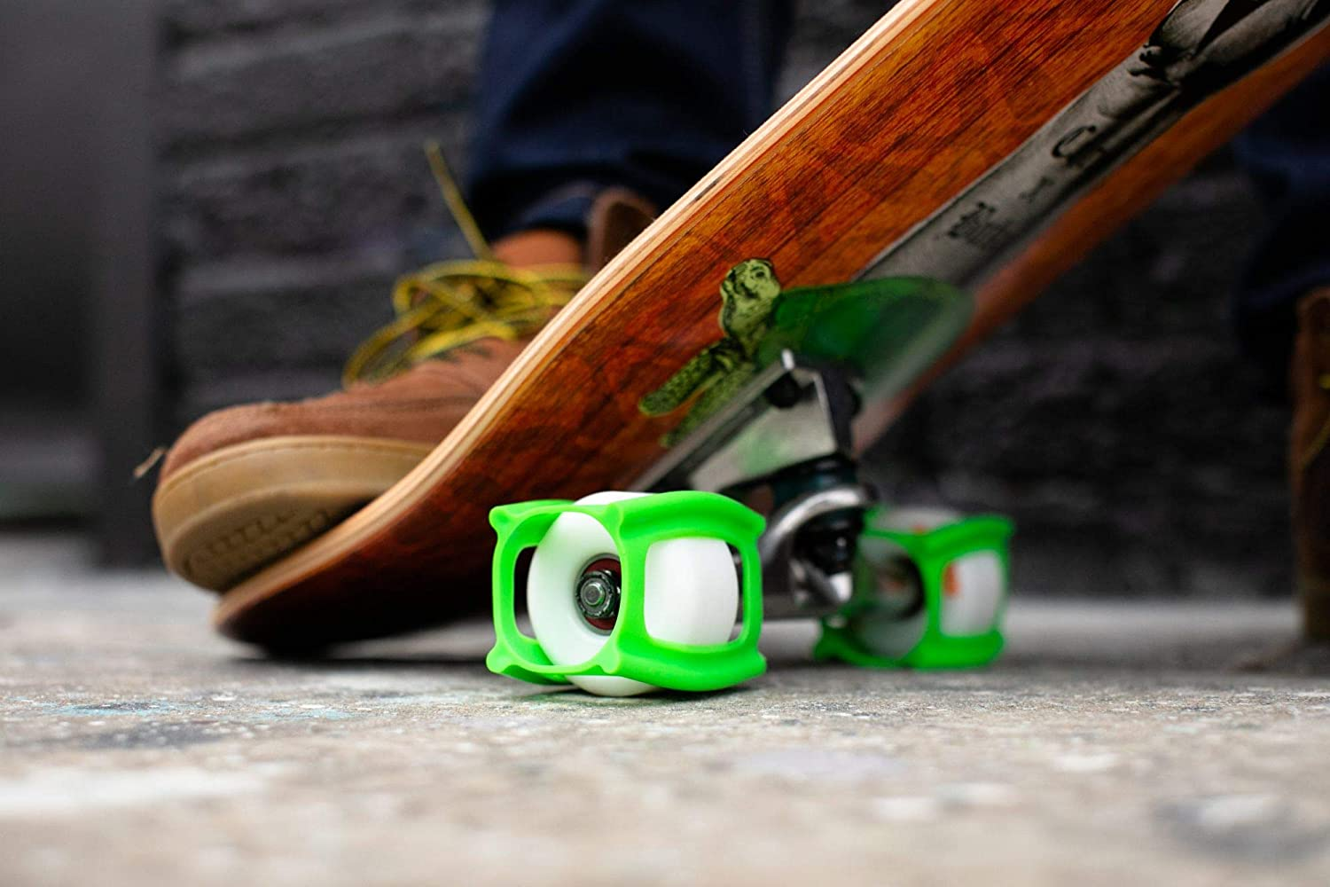 Engineered and Made in USA Patented Accessories for Skateboards Wheels . Neon Blue SkaterTrainer The Official Skater Trainers