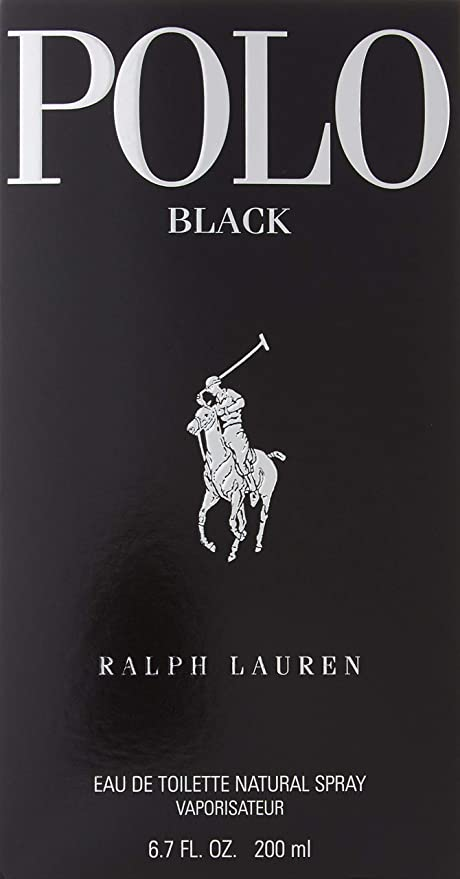 Ralph Lauren Polo Black Eau de Toilette 200ml EDT Vaporizador ...