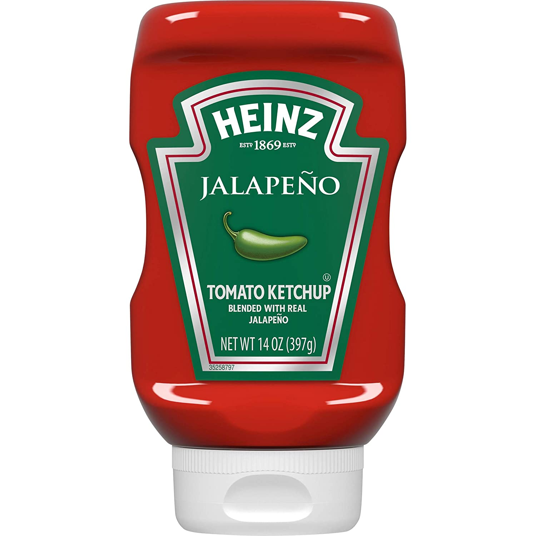 Heinz Jalapeno Tomato Ketchup (14 oz Bottles, Pack of 6)