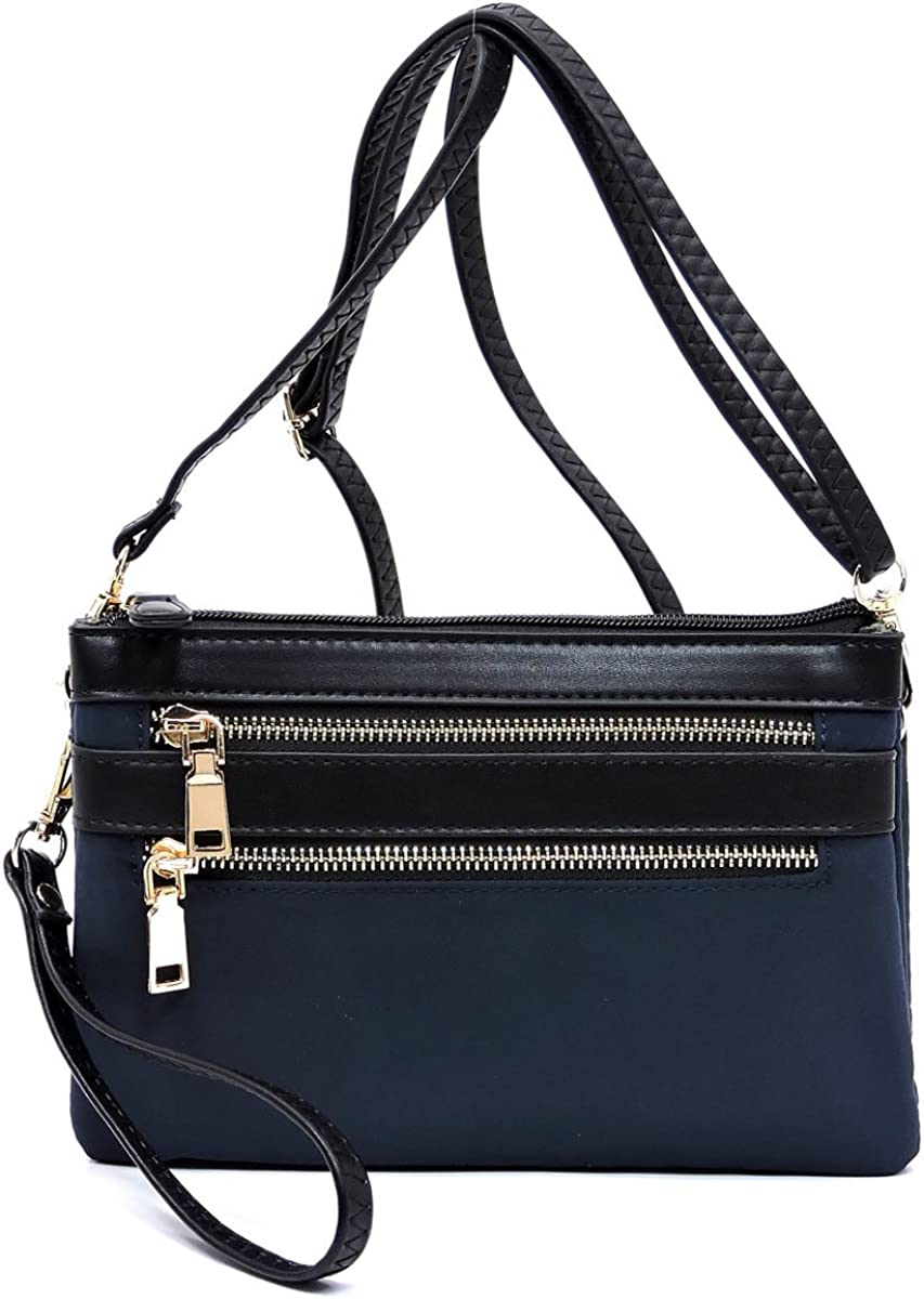 light and medium multi pockets crossbody purse bag Nylon slim