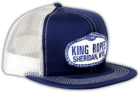 b9a083a331 King Ropes Kings Saddlery Brand Mesh Hat (Blue) at Amazon Men s ...