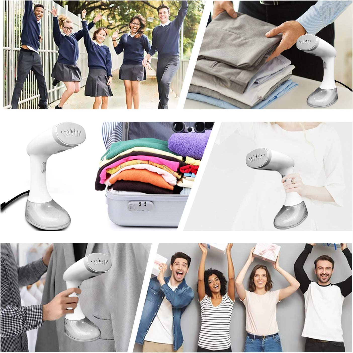 Home and Office 3 adjustable modes Handheld Garment Steamer 1640W 380ML Portable Hand Steamer for Ironing Wrinkles Remover for Travel BINKE Clothes Steamer Fast Heat-up