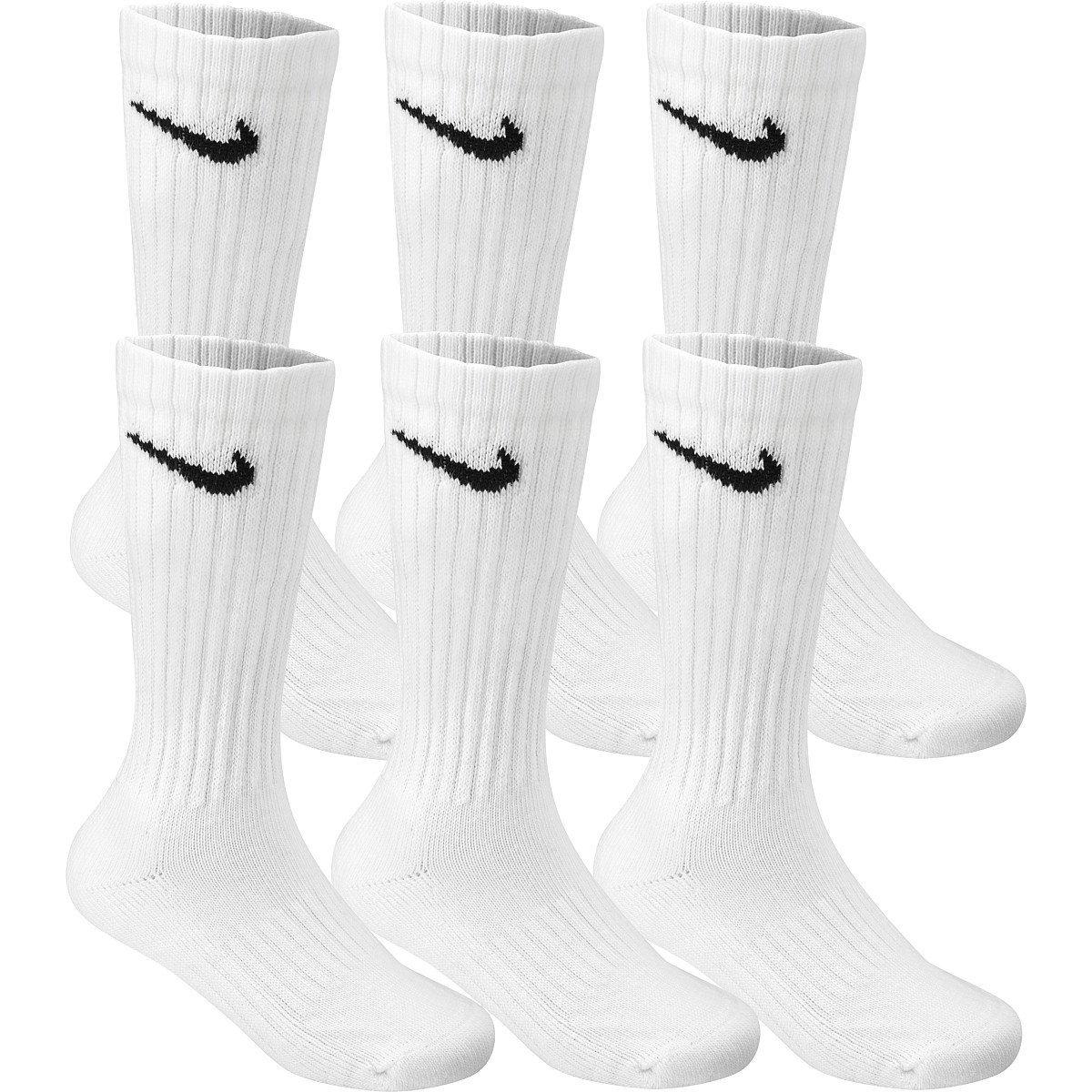 7b7cf91d0202d Amazon.com  Nike Premium Cotton Crew Cut Socks (6 Pack) Large Black  Sports    Outdoors