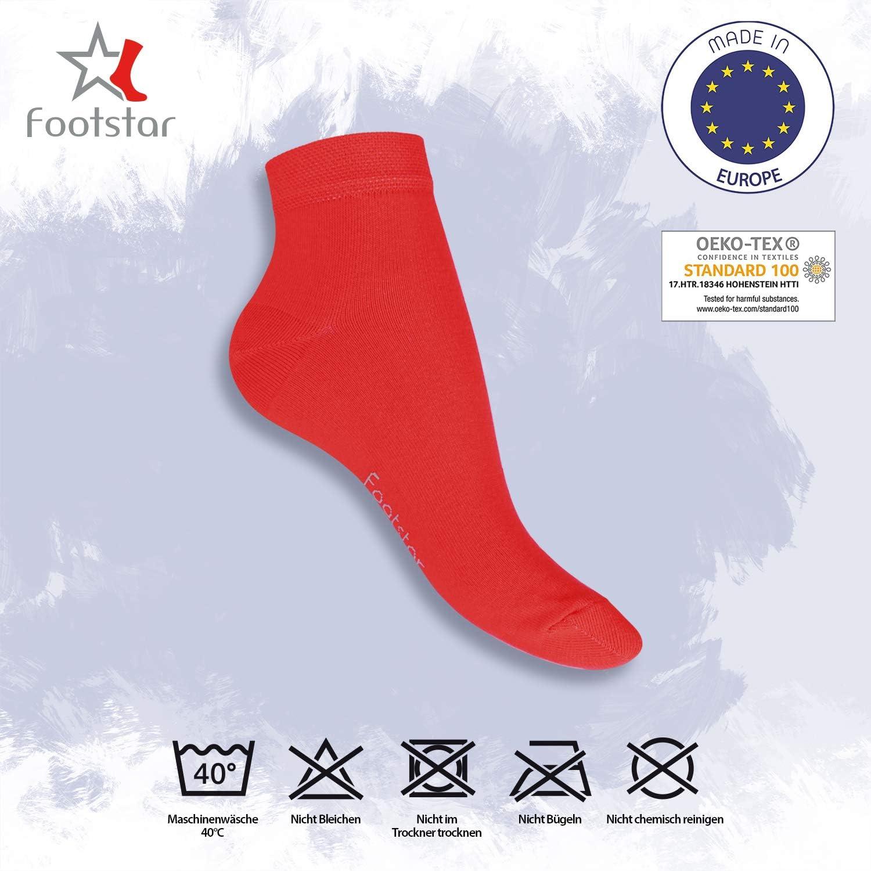 SNEAK IT Footstar 10 pares de calcetines de ca/ña corta unisex Disponibles en varios colores