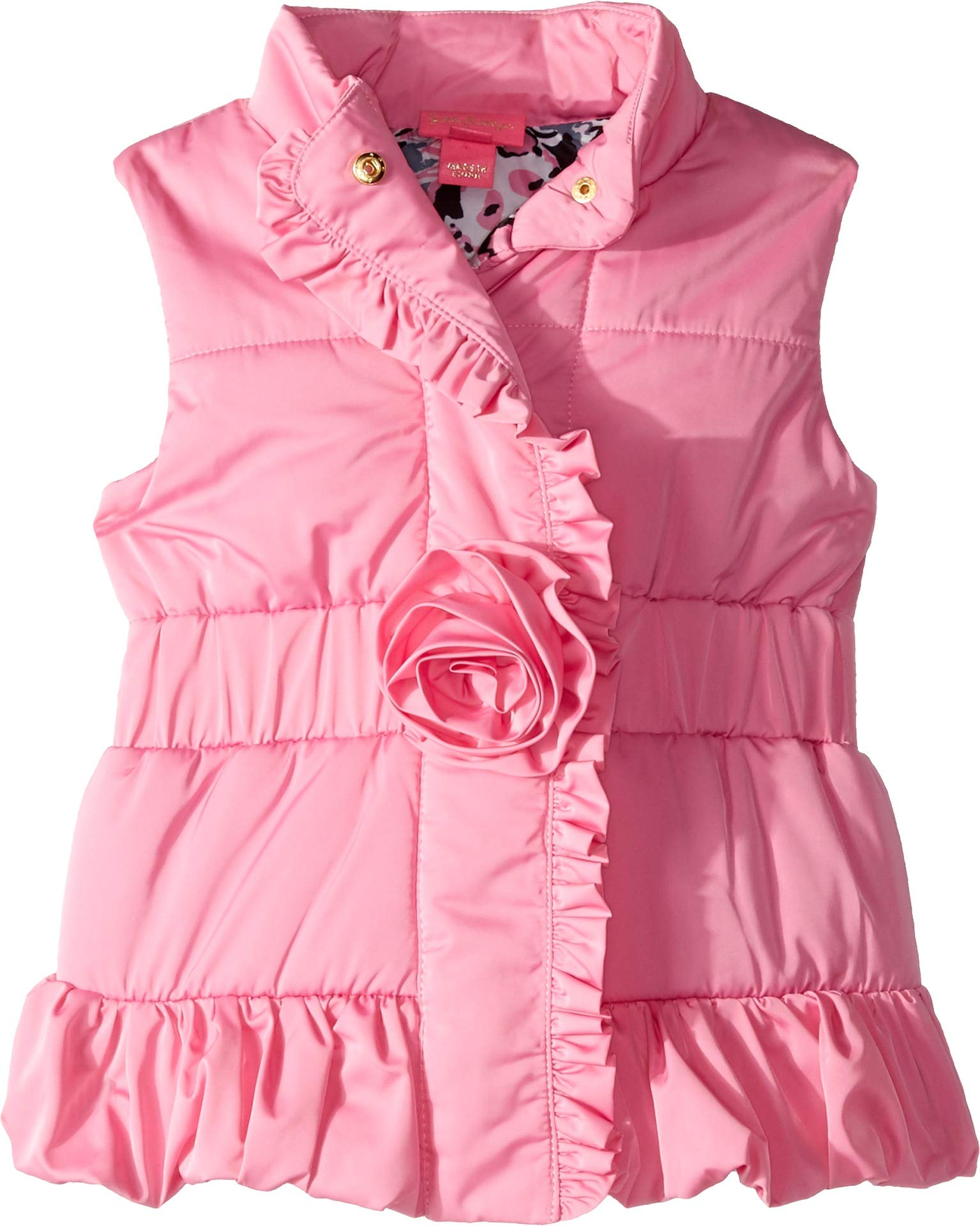 Lilly Pulitzer Kids Baby Girl's Caylee Vest (Toddler/Little Kids/Big Kids) Hibiscus Pink X-Large by Lilly Pulitzer
