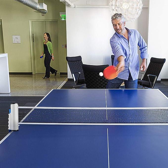 ADDG Filet de Fixation pour Table et Filet de Tennis de Table Super /épais Casier de Filet de Tennis de Table avec Clip de Filet 6,5 cm