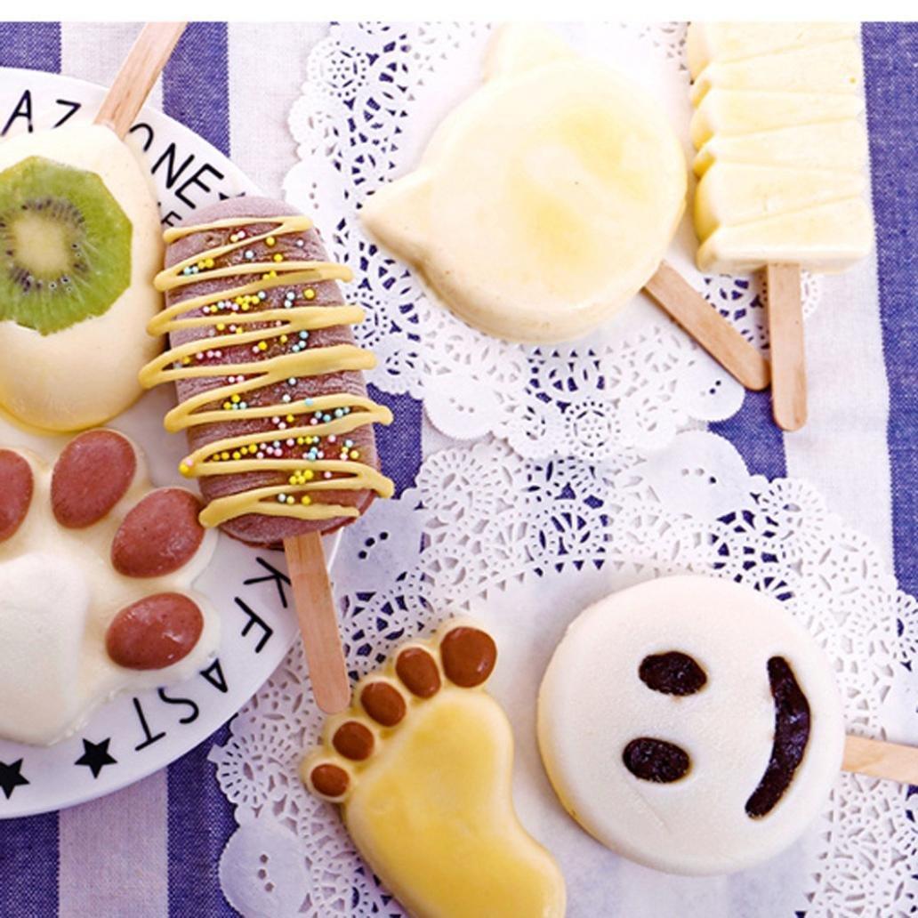 Jeeke Popsicle Sticks DIY Ice Cream Stick 80Pcs