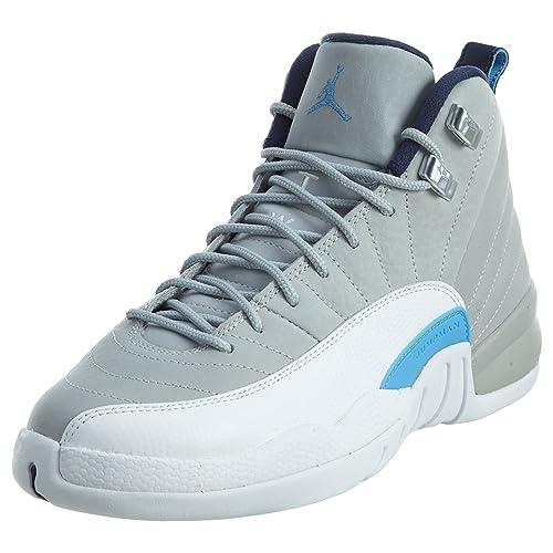 cca32f6e4160 NIKE Boys  WLF Gry Unvrsty Bl-White-mid N Basketball Shoes  Amazon ...