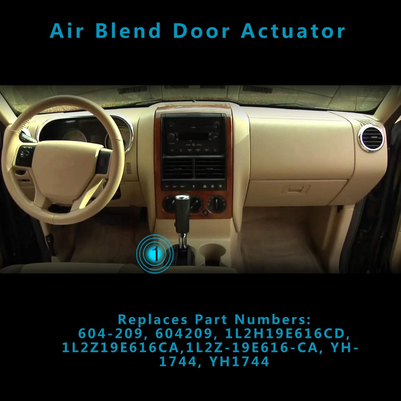 HVAC Heater Blend Door Actuator New Driver//Passenger for Explorer RH or LH Ford