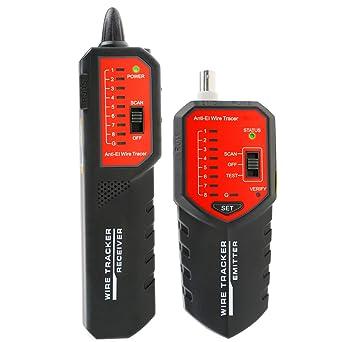 Alambre rastreador caza STP UTP red teléfono coaxial cable RJ45 RJ11 comprobador de cable con interferencia