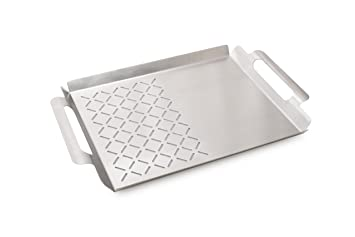 Edelstahl Grillplatte Für Gasgrill : Primaster 2 in 1 edelstahl grillplatte grillzubehör grillaufsatz 45