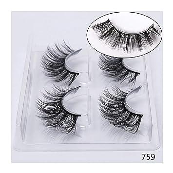 aa35739b55e Little cute shop 2/4 pairs natural false eyelashes fake lashes long makeup  3d mink