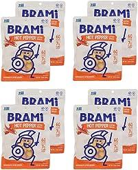 BRAMI Lupini Bean Snack, Hot Pepper | Plant Protein, Vegan, Gluten-Free, Low Calorie, Zero Net Carb, Keto, Lightly Pickled, Mediterranean Legume | Pack of 8, 5.3 oz (150g)