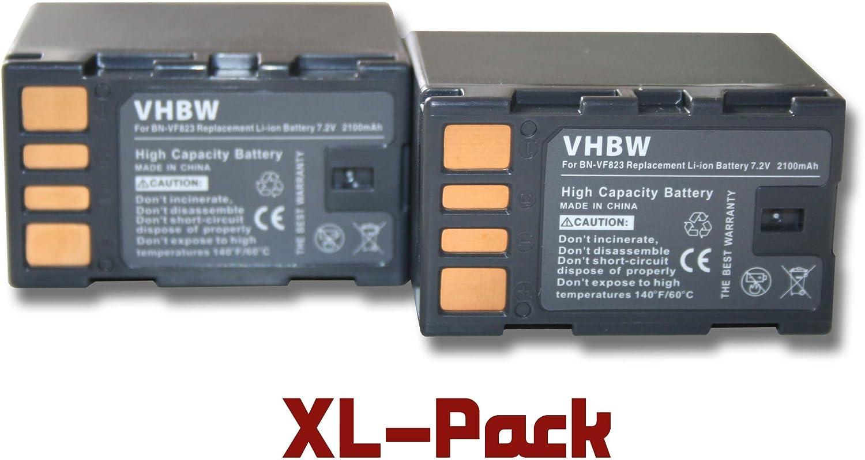 BN-VF808 BN-VF808U 2 x bater/ías vhbw 2100mAh para videoc/ámara JVC GS-TD1EU por BN-VF823 BN-VF815U. BN-VF815 BN-VF823U