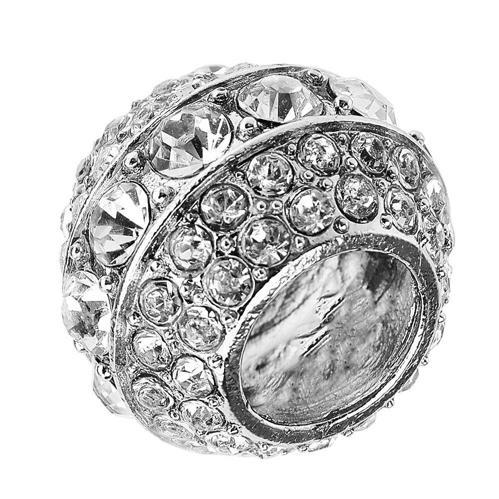 Auto Sitz Kopfst/ütze Halsband Rod Kristall Ring Dekoration Innen Vertiefungen
