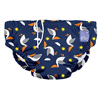 Large Bambino Mio Reusable Swim Diaper 1-2 Years Sea Horse