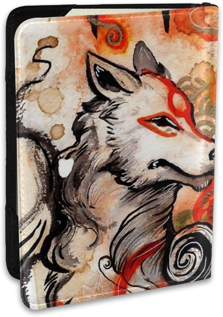 Tears Of Wolves Fashion Leather Passport Holder Cover Case Travel Wallet 6.5 In